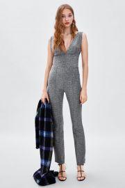 bodysuit with metallic thread at Zara