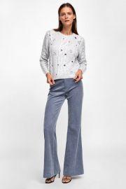 cable knit eyelet sweater at Zara