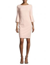 calvin klein Bell-Sleeve Sheath Dress at Lord & Taylor