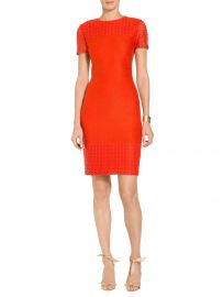 caris knit dress at St. John