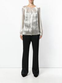 chain fastening pleat blouse by Max Mara at Farfetch