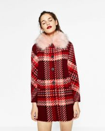 check Coat at Zara