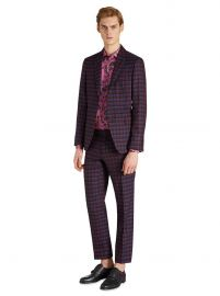 check suit at Etro
