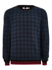 check sweater at Topman
