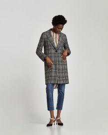 checked coat at Zara