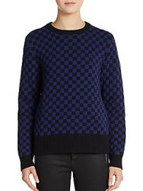 checkerboard sweater by Marc by Marc Jacobs at Saks Off 5th