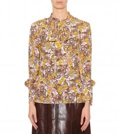 chloe Printed crepe blouse at My Theresa