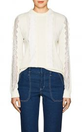chloe LACE-INSET STRETCH-WOOL SWEATER at Barneys