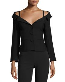 cinq a sept Angelina Off-the-Shoulder Blazer at Neiman Marcus