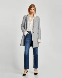 coat with shoulder pads at Zara