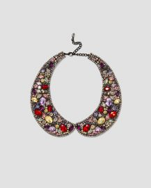 collar-style necklace at Zara