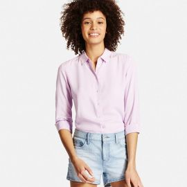 collared blouse at Uniqlo