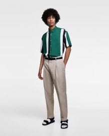 color block shirt at Zara