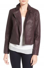 cupcakes and cashmere  Joslyn  Faux Leather Moto Jacket at Nordstrom