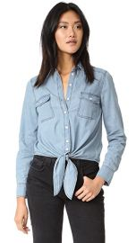 cupcakes and cashmere Ayres Tie Front shirt at Shopbop