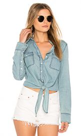 cupcakes and cashmere Ayres Top in Chambray from Revolve com at Revolve