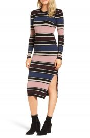 cupcakes and cashmere Barrow Stripe Midi Dress at Nordstrom