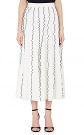 derek lam Ruffle Crepe Midi-Skirt at Barneys Warehouse
