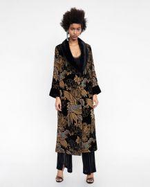 devor   velvet kimono at Zara
