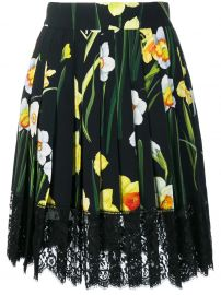 dolce gabbana floral flared skirt at Farfetch