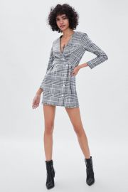 double breasted plaid dress at Zara