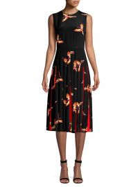 dvf Talita Silk Pleat Dress at Saks Fifth Avenue