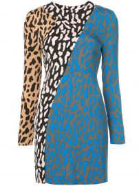 dvf Bias fitted dress at Farfetch