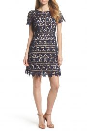 eliza j Crochet Overlay Dress at Nordstrom Rack