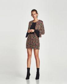 embellished fabric mini skirt at Zara