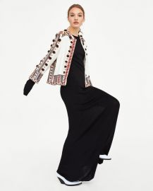 embroidered jacket at Zara