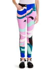 emilio pucci Printed Slim-Fit Jeans at Saks Fifth Avenue