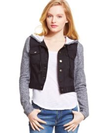 eric  lani Juniors Cropped Hooded Jacket at Macys