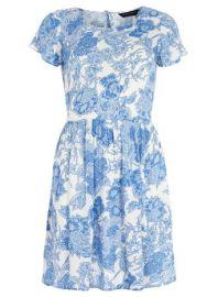 floral crinkle swing dress at Dorothy Perkins