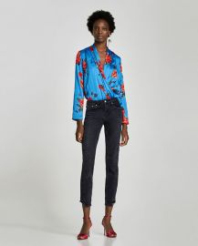 floral print bodysuit at Zara