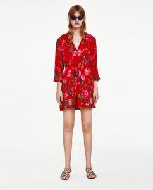 floral print mini dress at Zara