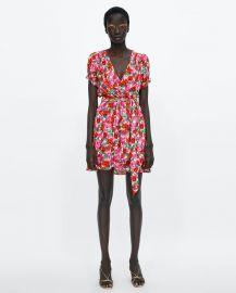 floral print wrap dress at Zara