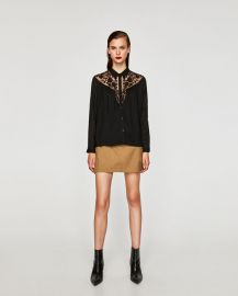 flowing shirt with lace at Zara