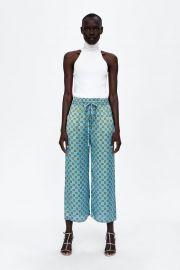 flowy printed culottes at Zara