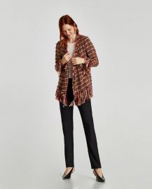 frayed jacket at Zara