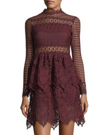 free generation Mock-Neck Lace Dress at Last Call