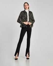fringed jacket at Zara