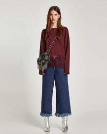 fringed sweatshirt at Zara
