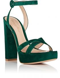 gianvito rossi SUEDE PLATFORM SANDALS at Barneys