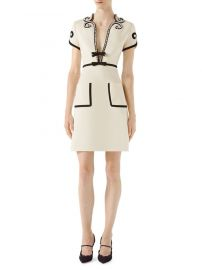 gucci Crystal-Trim Jersey V-Neck Dress at Saks Fifth Avenue