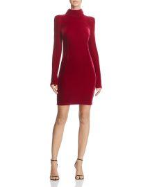 guess lga Turtleneck Velvet Dress at Bloomingdales