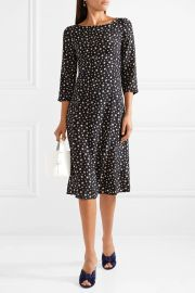hvn Clara printed silk-satin dress at Net A Porter