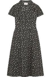 hvn Morgan printed silk dress at Net A Porter
