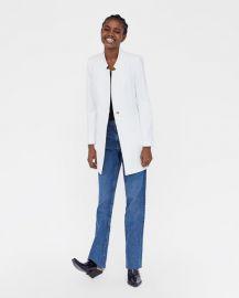 inverted lapel frock coat at Zara