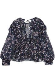 isabel marant Muster floral-print fil coupe silk-blend georgette blouse at Net A Porter