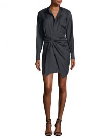 isabel marant Nolla Wrap-Front Shirtdress at Bergdorf Goodman